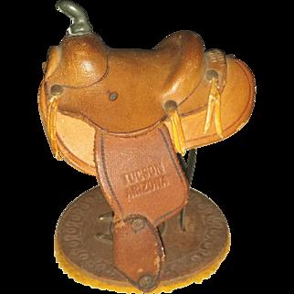 1941 Leather Saddle Souvenir or Salesman Sample