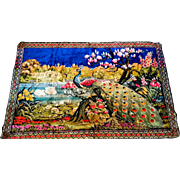 Peacock Wall Hanging Rug Tapestry Swans