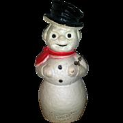 Snowman Paper Mache Kentucky Bourbon Advertising