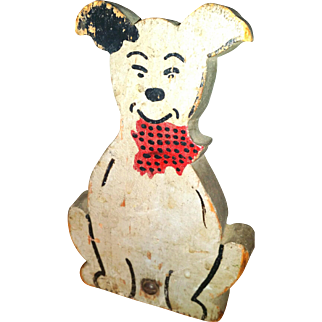 Doorstop Dog Wooden Folk Art