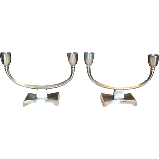 Danmark Just Anderson Deco Candlestick Candleholder Pewter