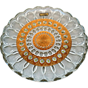 Culver Glass Valencia Plate Back Serving Dish MCM Cocktail