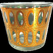 Culver Ice Bucket Seville Gold Aqua Blue