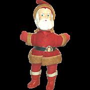 Santa Composition Rattle Head Rare Antique Doll Christmas