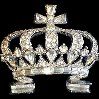 Bogoff Crystal Rhinestone Tiara Crown Hair Comb Vintage