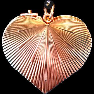 14kg Gold Four Fold Heart Locket