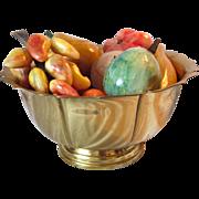 Italian Stone Alabaster Marble Fruit Vintage Retro