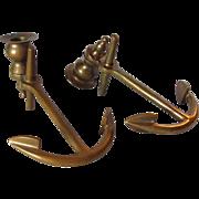 Brass Anchor Bookends Candlesticks