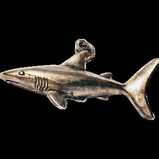 Sterling Shark Charm Pendant Ocean Fish Great White Summer Bracelet
