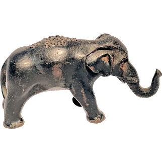 Cast Iron Advertising Elephant Figural Rare Crane Co. 50th Jubilee Souvenir Cast Iron Elephant Paperweight, 1855-1905