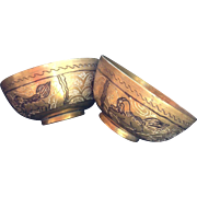 Pair of Brass Singing or Offering Bowls