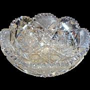 American Brillant Cut GlassBowl by Clark