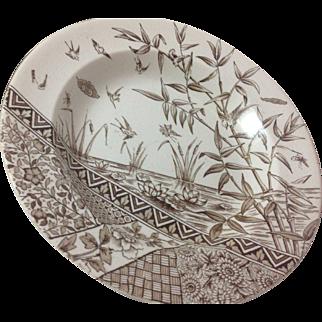 Set of Victorian Transferware Burmah Soup Plates.