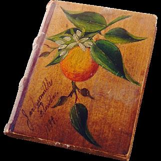 Florida Victorian Orangewood Souvenir Pincushion 1899