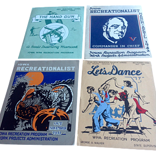 4 WPA posters from Iowa 1941-1942