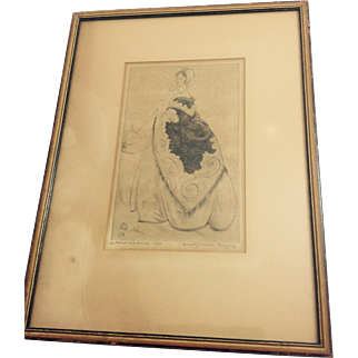 Dorothy Lake Gregory Etching