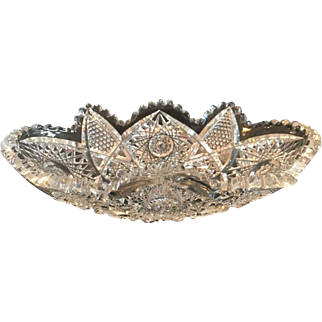 Antique American Brilliant Crystal Relish Dish