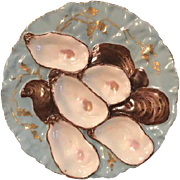 (Set of 2) Blue Turkey Oyster Plates