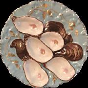 (Set of 2) Blue Turkey Oyster Plates