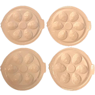 Set of 4 Fish Shape Oyster Plates