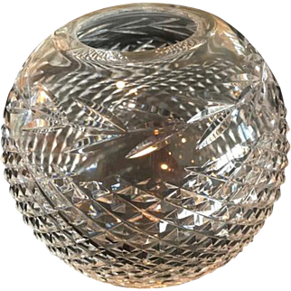 Vintage Waterford Crystal Rose Bowl