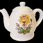 Musical Teapot 15pc Vintage Child's Yellow Rose Porcelain Tea Set. Early 1970s.