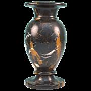 Vintage Black Marble Vase