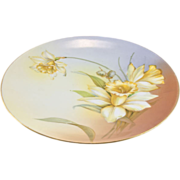 RS Germany Yellow Daffodil Hand Painted Cabinet Plate
