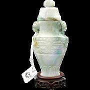 Qing Dynasty Jadeite Vase, 19th Century