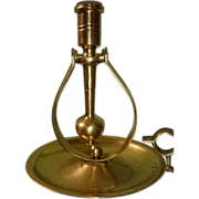 Brass Gyroscopic Candlestick