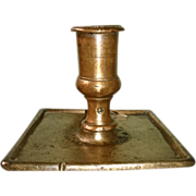 17th Century Brass Candlestick