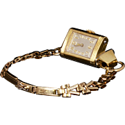 100% Authentic Jaeger Le Coultre Reverso Vintage Watch 18K Case, 9K Bracelet Stunning Vintage 1930's