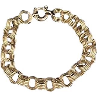 Solid 18K Yellow Gold Hollow Link Bracelet! 10.4 grams! Retail 2,400.00