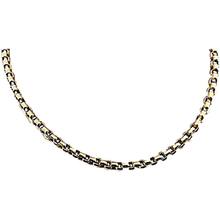 Solid 14K Yellow Gold 36 Inch Box Chain - 18.3 Grams!