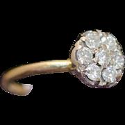Solid 14K Yellow Gold Natural Diamond Ring 2.7 Grams