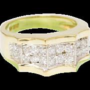 Solid 18K Yellow Gold & Natural Diamond Ring 8.8 Grams