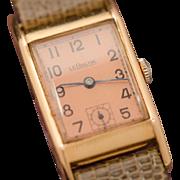 100% Authentic Jaeger LeCoultre 14K Solid Rose Gold Lizard Wristwatch 23.6 Grams