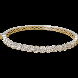 Solid 14K white Gold Diamond Bracelet 20.1 Grams