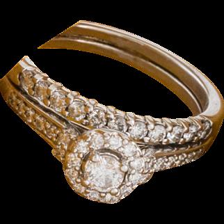 Solid 14K White Gold Natural Diamond Ring 5.8 Grams
