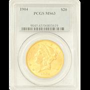 1904 (Regular Strike) Liberty Head Twenty Dollar Coin PCGS MS63 9045.63/06803619