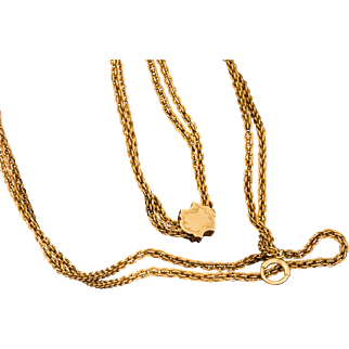 Solid 14K Yellow Gold Watch Chain 44. 5 Grams