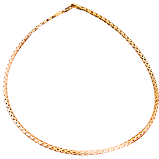 Solid 14K Rose Gold Flexible & Hollow Necklace 5.2 Grams