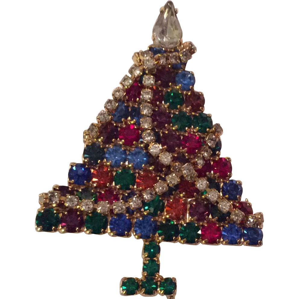 Christmas tree pin from rubylane sold on ruby lane