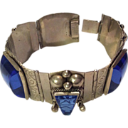 Sterling Mexican Bracelet with Faces