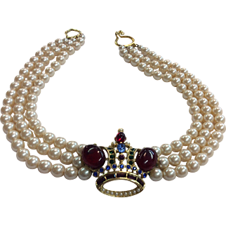 Butler & Wilson Crown Necklace