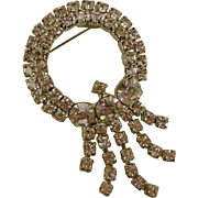 Large Spectacular Icy White Rhinestone Brooch/Pin