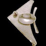 George Sassen Modernist Sterling Silver Angel Fish Brooch/Pin