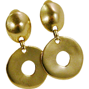 Erwin Pearl Matte Gold-Tone Modern Clip Earrings