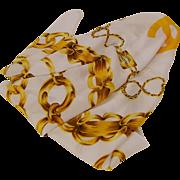 Chanel Silk Scarf Classic Chain Design