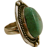 Yazzie Navajo Turquoise Sterling Silver Ring Size 5.5